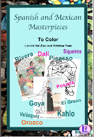 Spanish and Mexican Art Masterpieces to Color packet cover