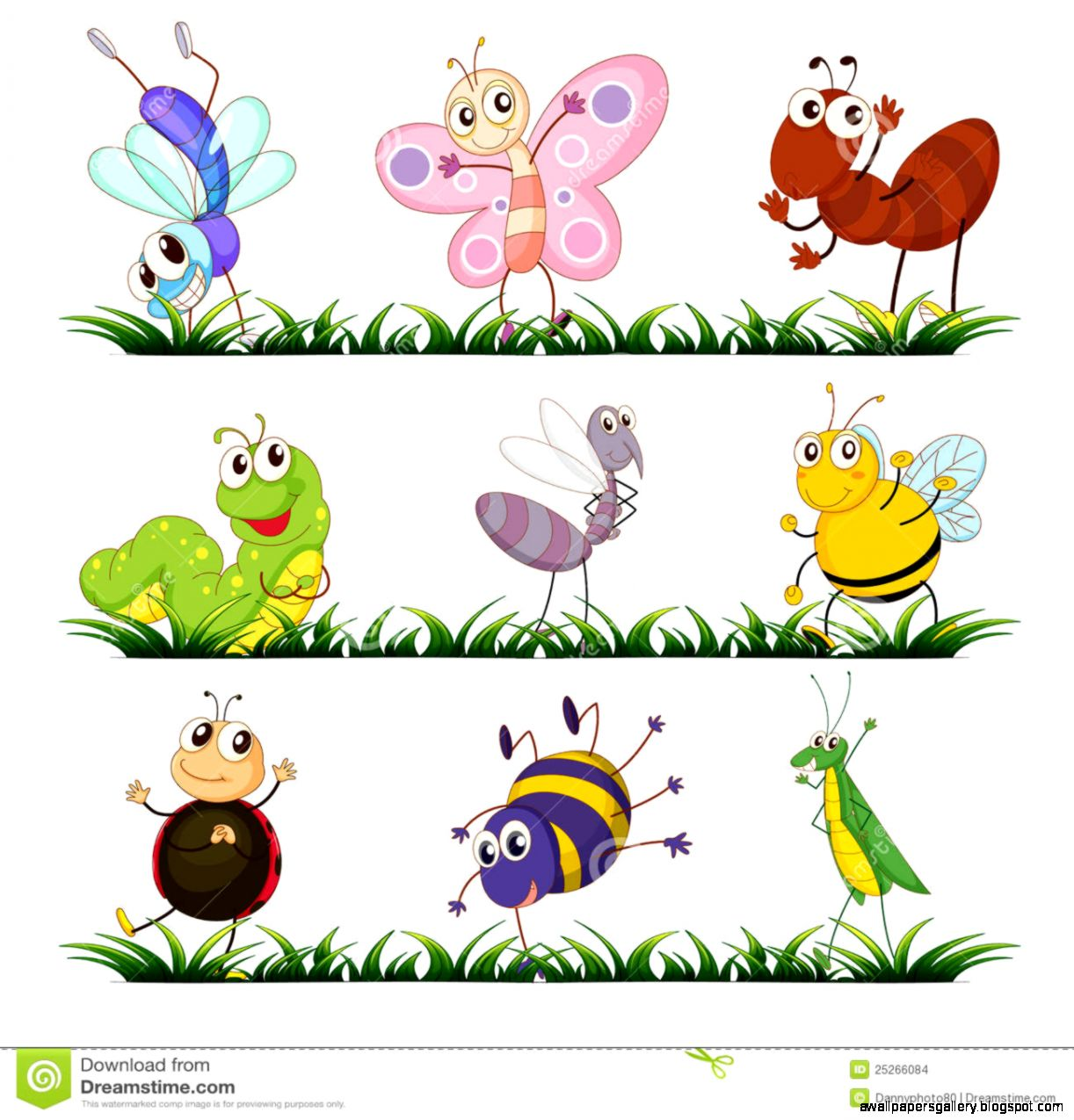 Grasshopper Inse...Spring Insects Clipart