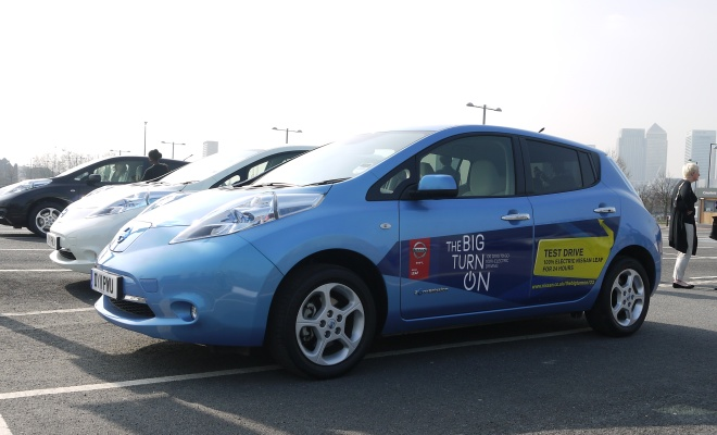 Big Turn On Nissan Leaf