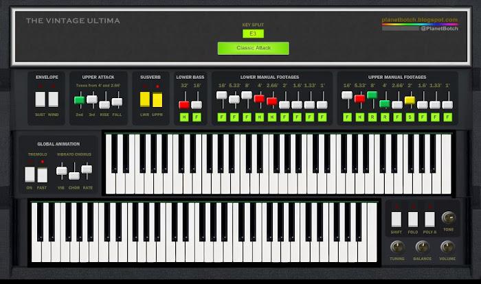PlanetBotch Vintage Ultima freeware organ VTSi