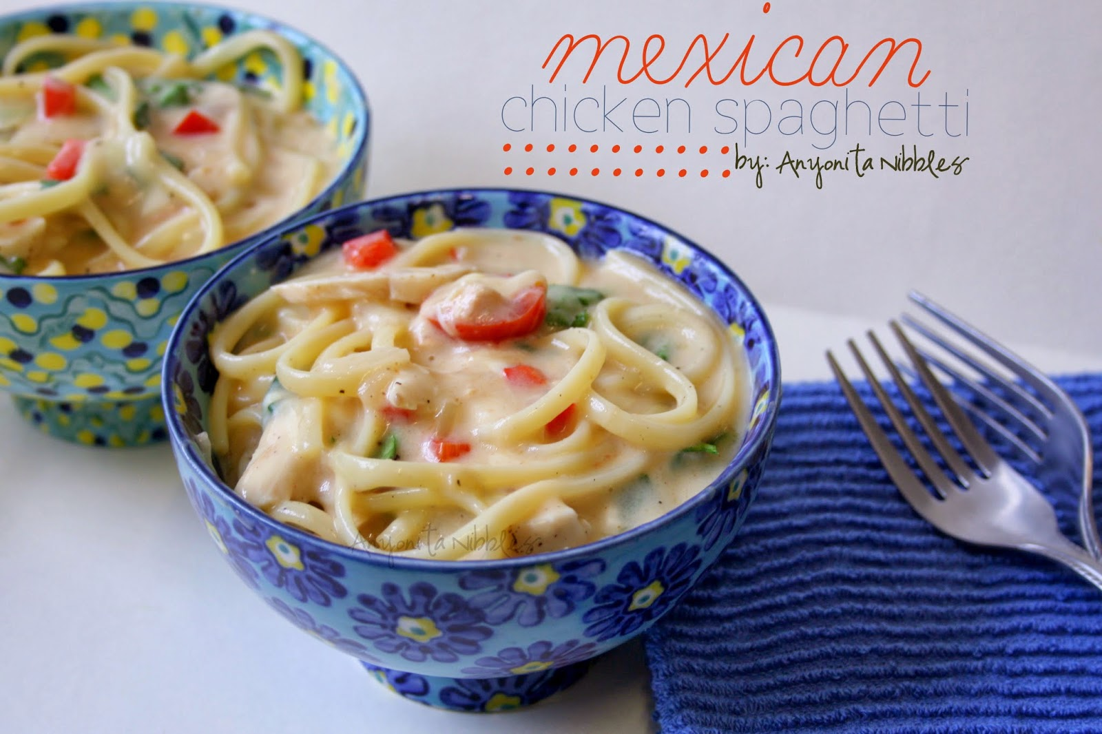 Spice up your next fiesta with this creamy Mexican Chicken Spaghetti