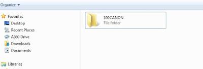 Folder yang terdapat pada SD Card tempat tersimpannya foto dan video