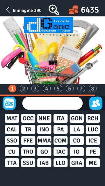 8 Parole Smontate soluzione livello 181-190