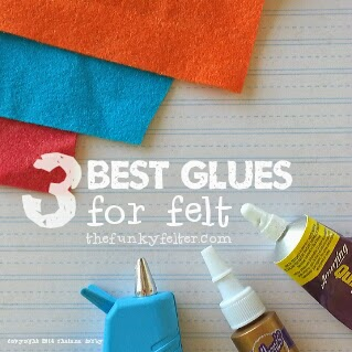 3 best glues for felt crafts including needle felted fibers by the funky felter