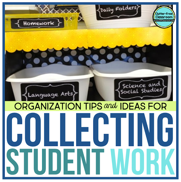 Collect, organize, and manage ongoing projects, work in progress assignments, assignment boards, unfinished student work, and more by organizing your kids using simple classroom procedures and paper storage hacks to make your life easier.
