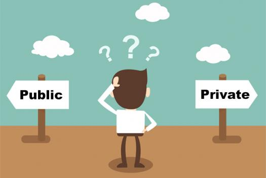 roles of accountants public versus private Private accountants perform many of the customary functions as any other type of accountant however, their duties do differ somewhat from those of the other typical types of accounting: public and governmental accountants and internal auditors.
