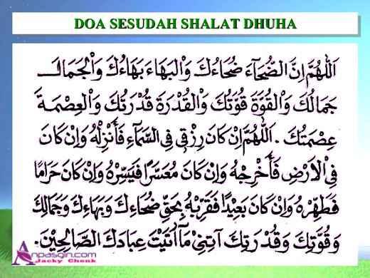 Bacaan Doa Setelah Sholat Dhuha Arab Latin Sesuai Sunnah Lengkap Artinya