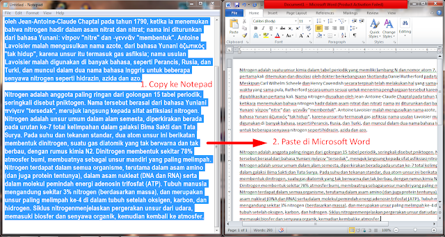 Tutorial Menghilangkan Background Tulisan Hasil Copy Paste di Microsoft Word 4