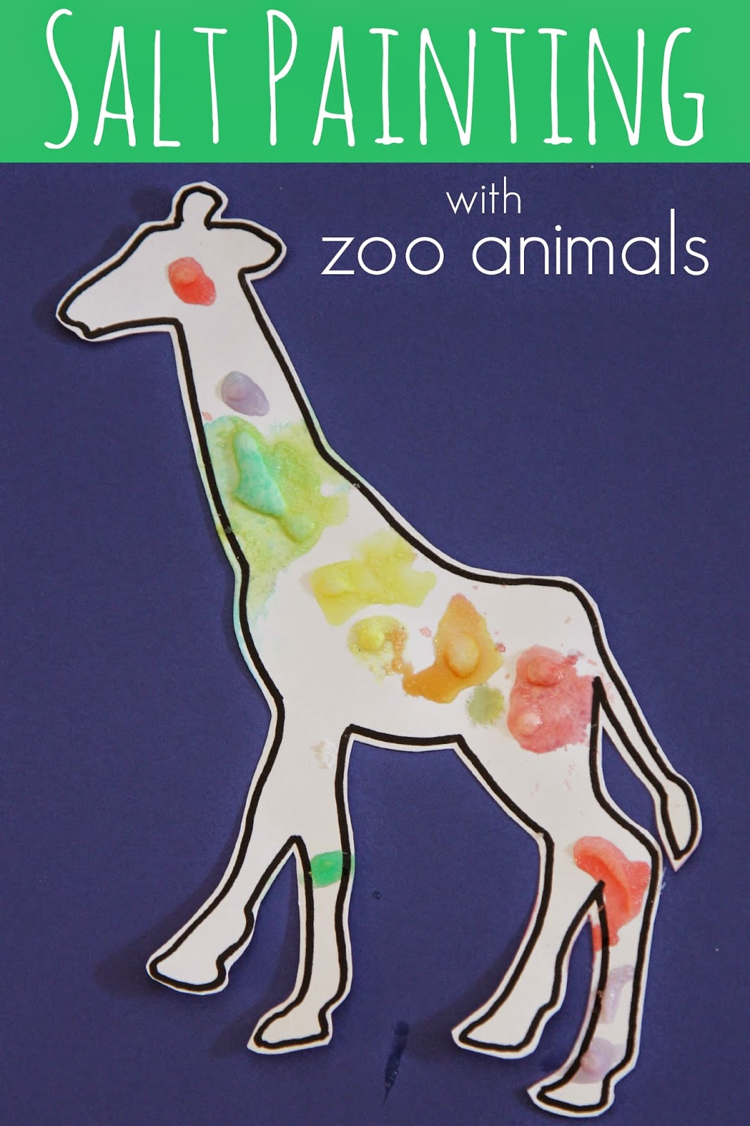 Zoo Animal Salt Painting For Kids