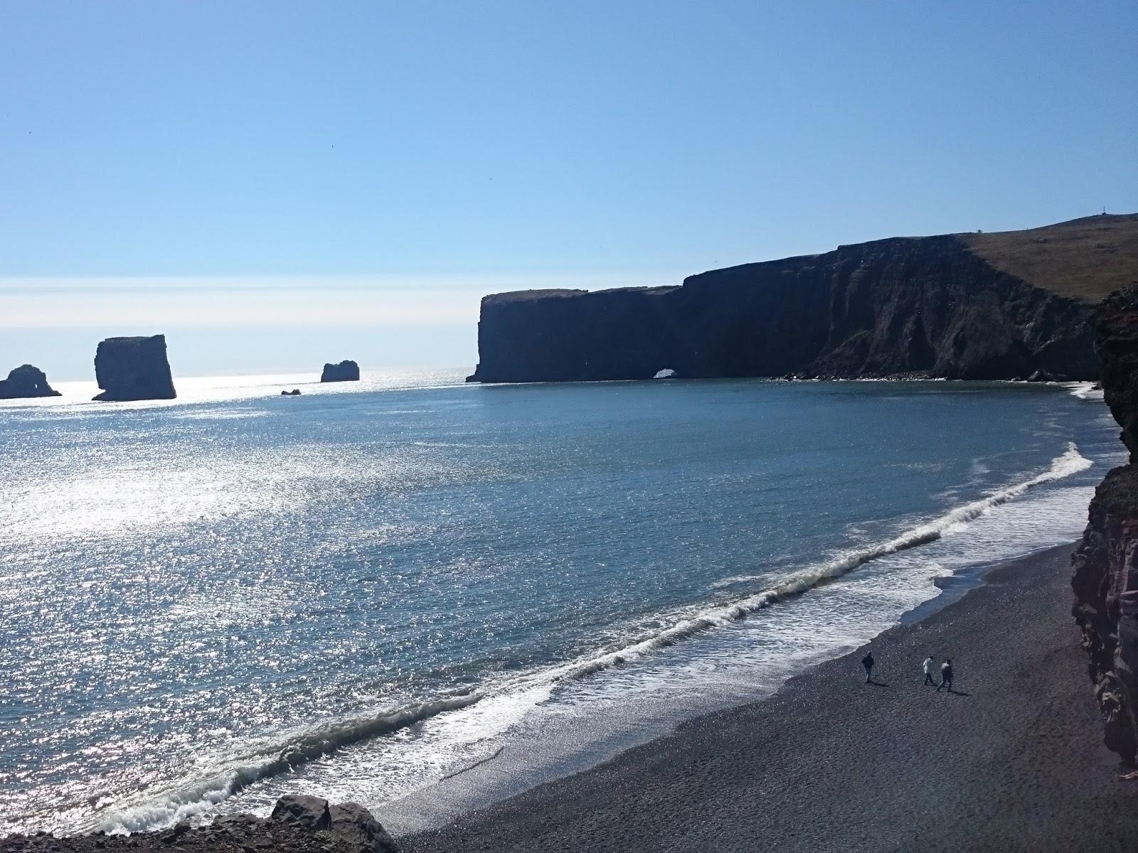 Reynisfjara, czarna plaża, Islandia, blog o Islandii, ocean, islandzki krajobraz