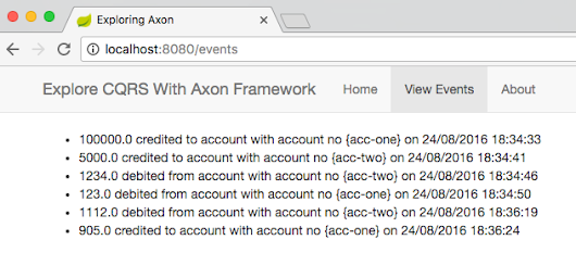 Replaying Events in An Axon Framework Based Application