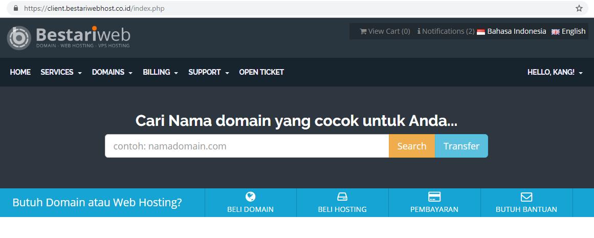 BestariWebhost Solusi Hosting Murah Berkualitas Untuk Blogger Coba geh