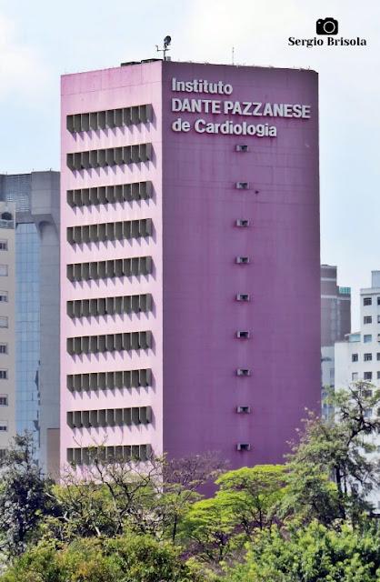 Vista ampla do Instituto Dante Pazzanese de Cardiologia - Vila Mariana - São Paulo