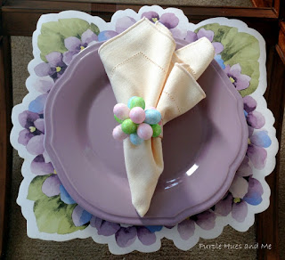 DIY Easter egg flower napkin rings