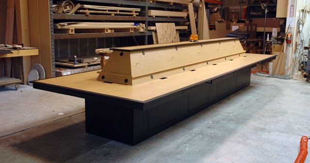 Custom Conference Tables Wire Management For California