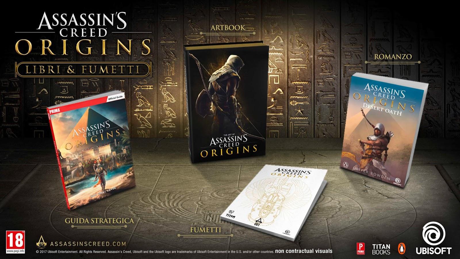 Assassin's Creed Origins tendrá cómics, novela, guía y libro de arte