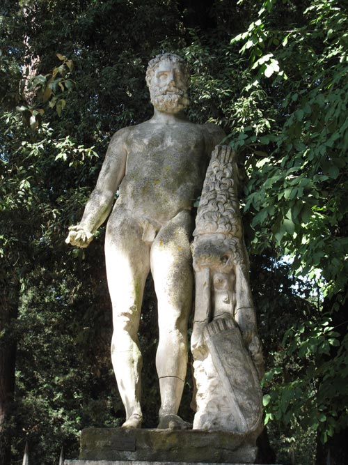 marble statue rome italy park