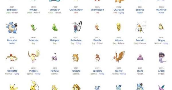 Nama Nama Pokemon Beserta Gambarnya AR Production