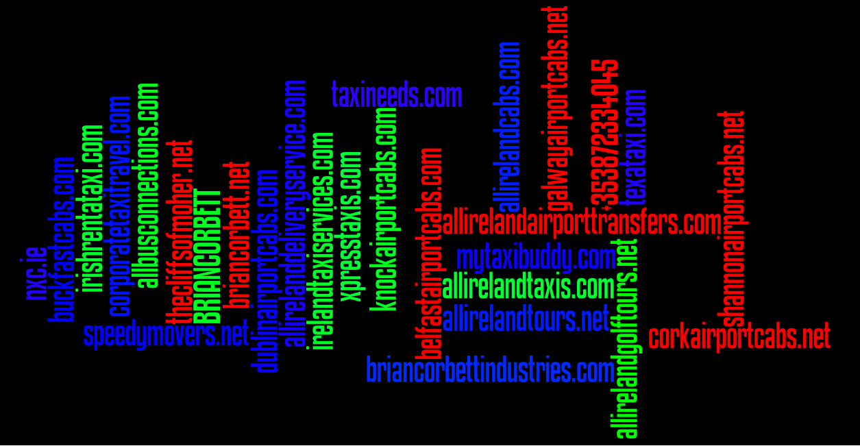 Wordle: Ireland Taxi Services