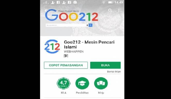 Mirip Google, Goo212 Diklaim Mesin Pencari yang Islami
