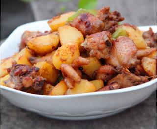 Gà xào khoai tây - món ngon cho ngày cuối tuần