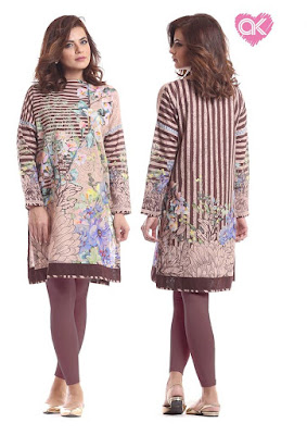 Alkaram pret kurti designs for ladies