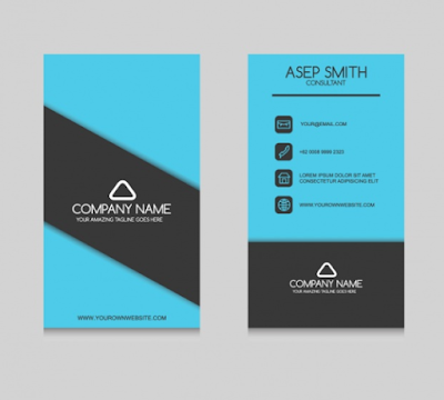 Template Kartu Nama - Elegant Business Card Design