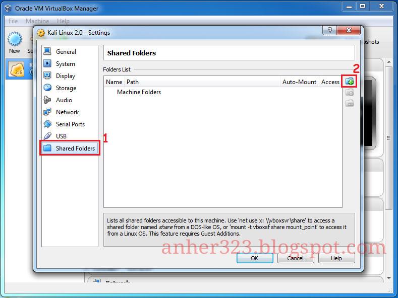 Share Folder Windows 7 ke Kali Linux di Virtualbox | Anherr Blog's