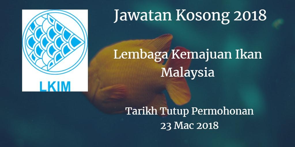 Jawatan Kosong LKIM 23 Mac 2018