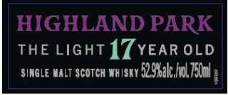 Highland Park The Light 17 year old single malt scotch whisky