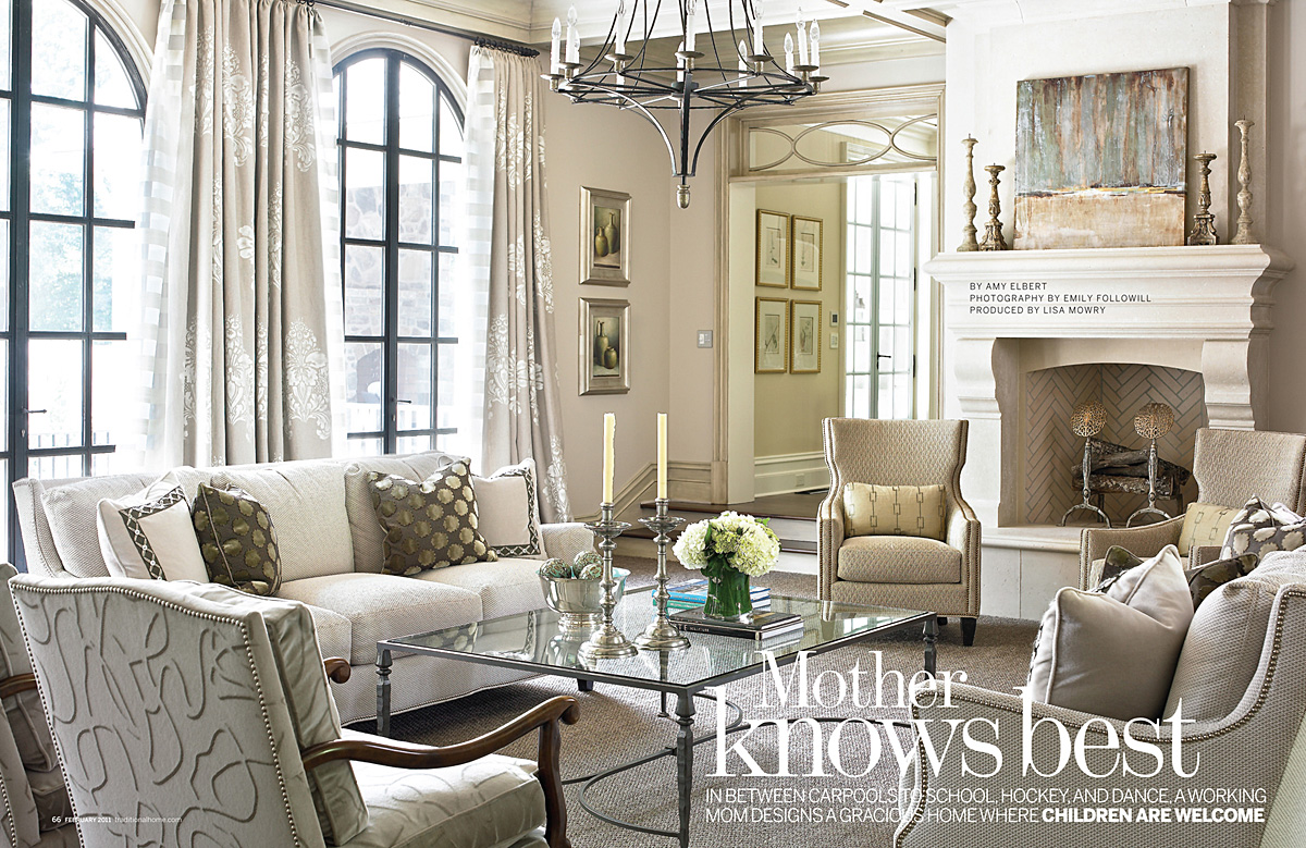 Green Living Room Ideas For Soothing Sophisticated Spaces: Petit Chateau: Grey And Cream- Soothing, Airy, And Classic