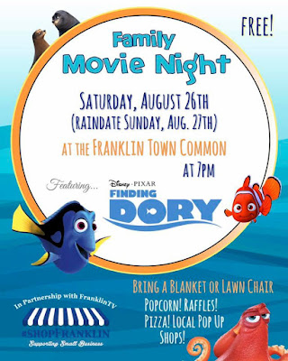 #shopFranklin Family Movie Night on the Common - August 26