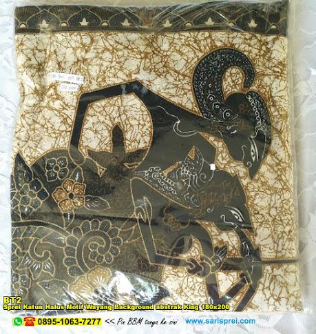 Sprei Katun Halus Motif Wayang Background Abstrak King 180x200