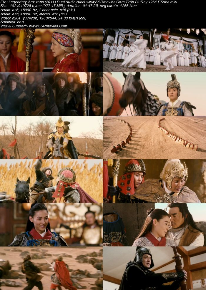 Legendary Amazons (2011) Dual Audio Hindi 720p BluRay 950MB ESubs Movie Download