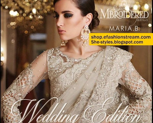 Maria B Mbroidered Wedding Edition 2017 Buy Online She Styles