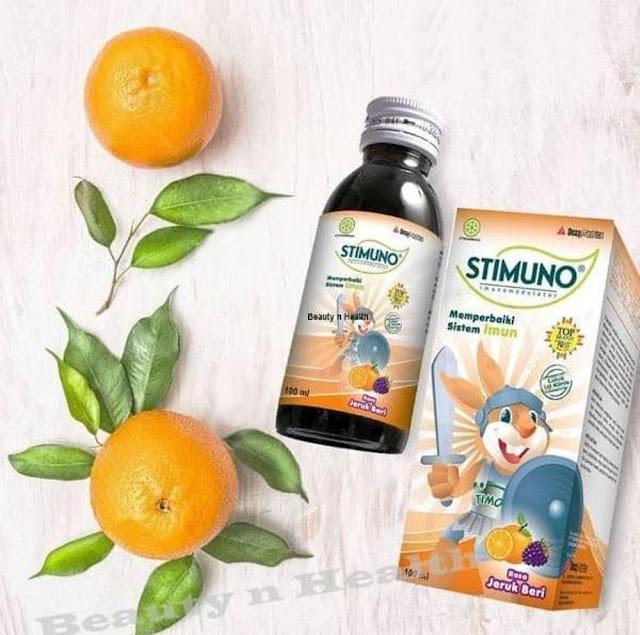Stimuno untuk Balita Suplemen Herbal Pembangkit Daya Tahan Tubuh