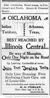 Advertisement, Richmond Climax, 28 August 1901, pg. 1, col. 6.