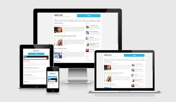Simple SEO Optimized Blogger Template - Free Design