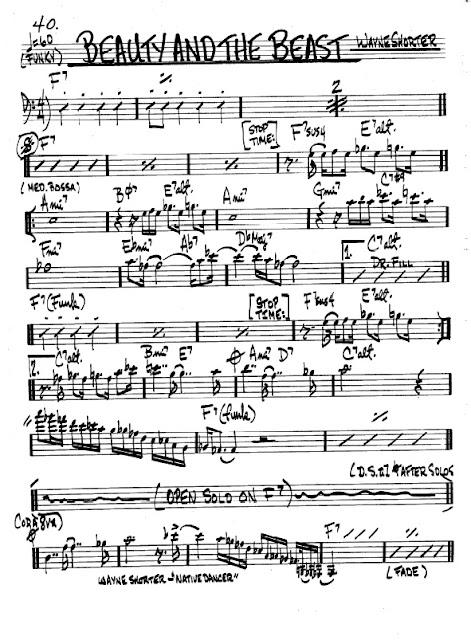 Partitura Trombón Wayne Shorter