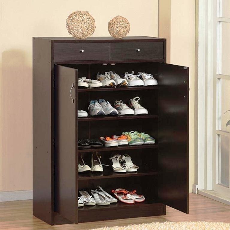 contoh model rak tempat sepatu minimalis terbaru  Desain