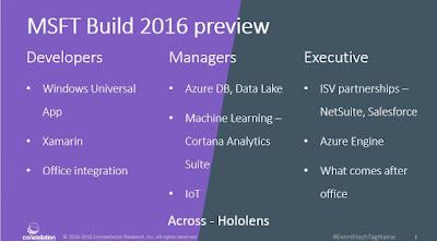 Holger Mueller Microsoft Build 2016 Developers, Managers, Executives