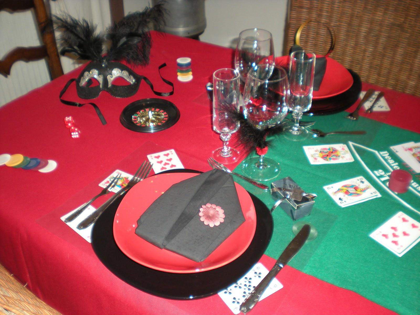 nouvel an sur le th me jeux de casino d co de table. Black Bedroom Furniture Sets. Home Design Ideas