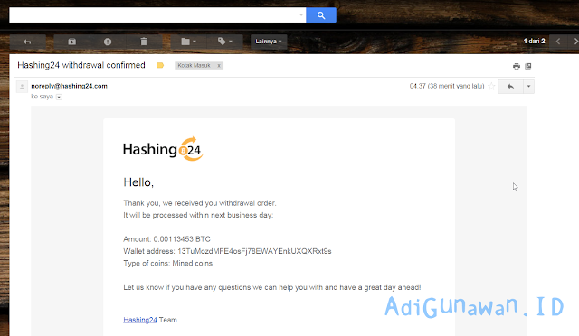 Cara Mining Bitcoin di Hashing24