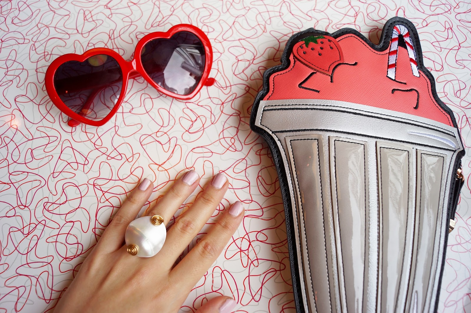 This milkshake clutch is super cute!!
