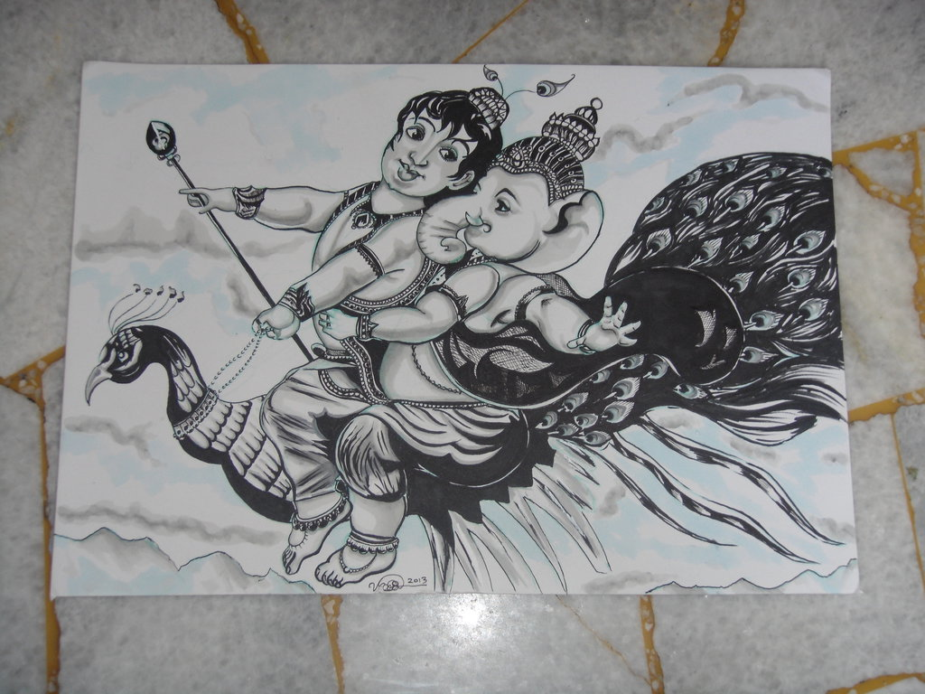 Hindu gods pencil sketch images hindu gods pencil drawing photos