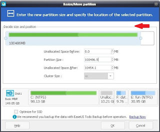 Gambar 3 - Easeus Partition Master Free