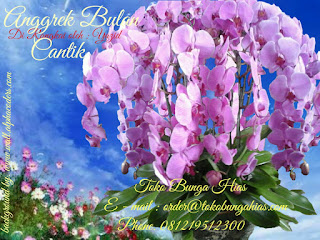 Rangkaian Anggrek Bulan Ungu Cantik Online Flower Jakarta