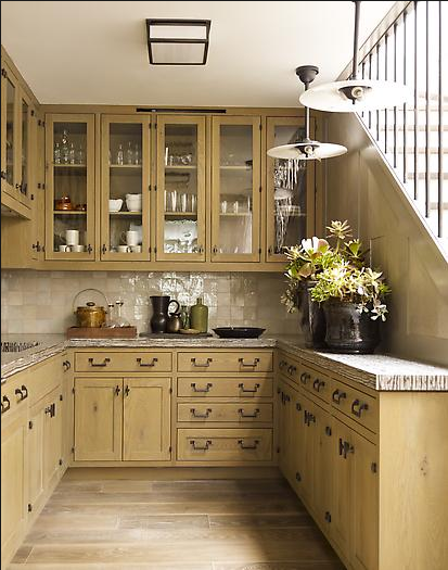 steven gambrel kitchen with wood color cabinets