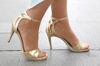 Unas sandalias de dama con tacón