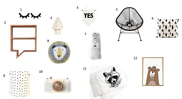 12 Accesorios para cuartos Infantiles